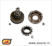 (A) (B) KICK RATCHET SET OF TWO HONDA ACTIVA (C) CRANK SPROCKET KB 4 STROKE